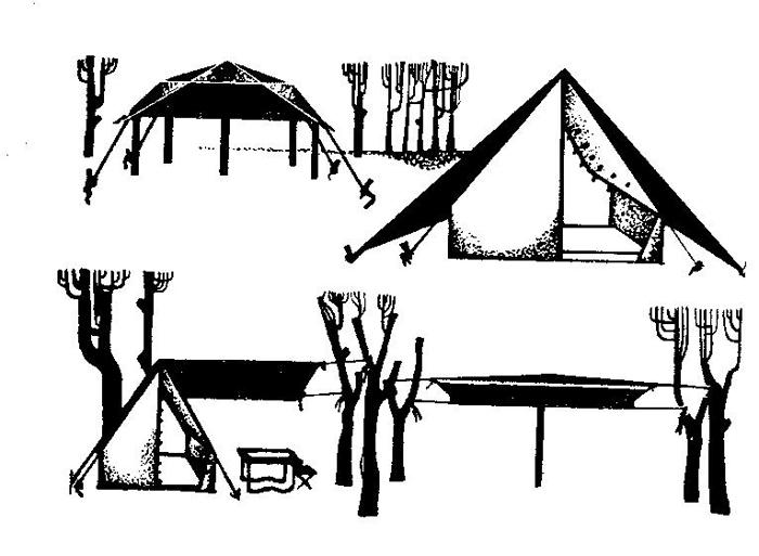 тентов в палаточном лагере