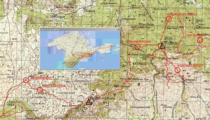 Схема 1 – Ангарский перевал