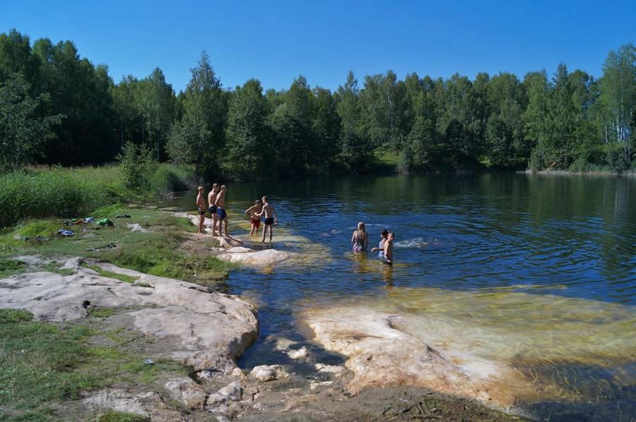 Затопленный алебастровый карьер за селом Филинское, фото 2