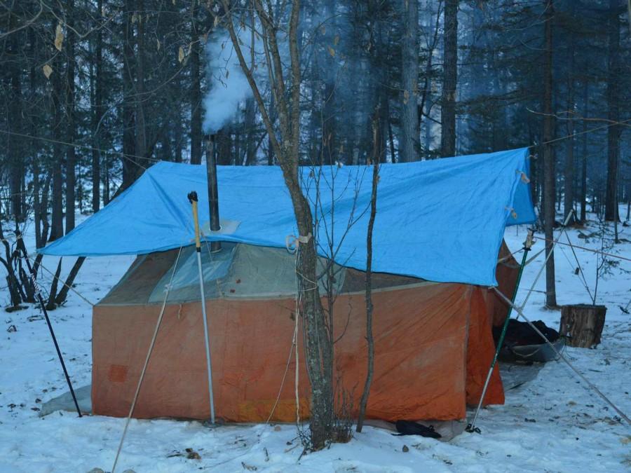 Как сделать палатку для зимней рыбалки своими  136