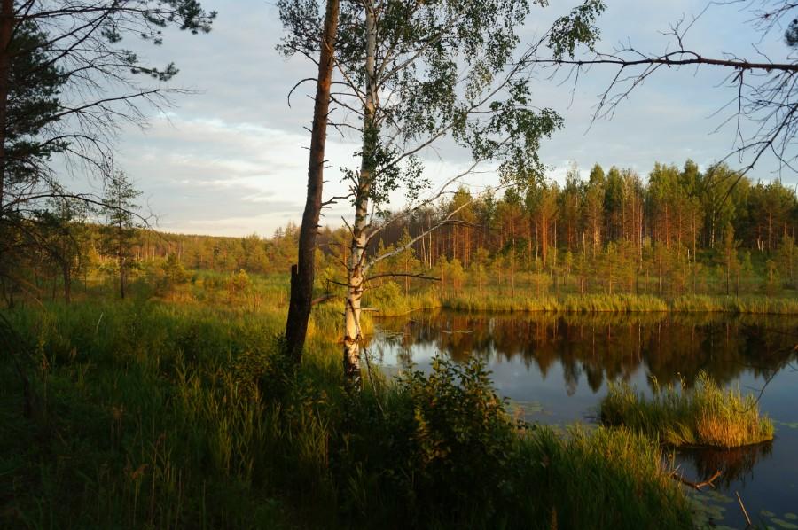 Закат на озерах Ирзяк