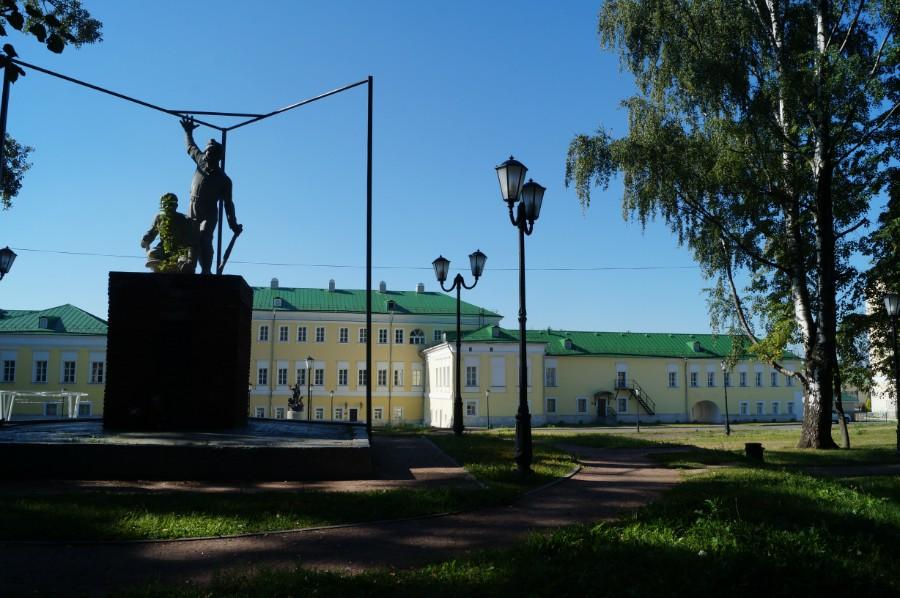 Бывшая усадьба Баташевых в Выксе. В настоящее время гостиничный комплекс