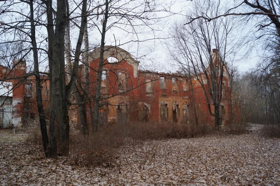 Загубленная усадьба Оболенских в Березичах (Козельск)
