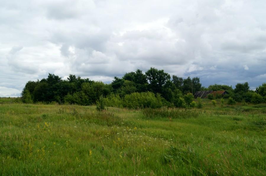 Место бывшей усадьбы Одоевских-Ланских в селе Мечасово