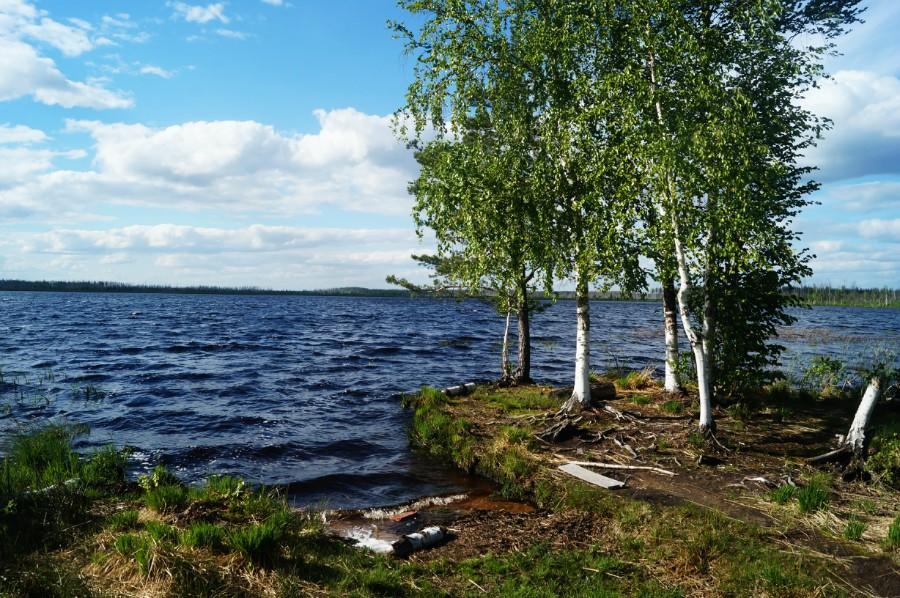 Шторм на озере БОльшое Полюшкино
