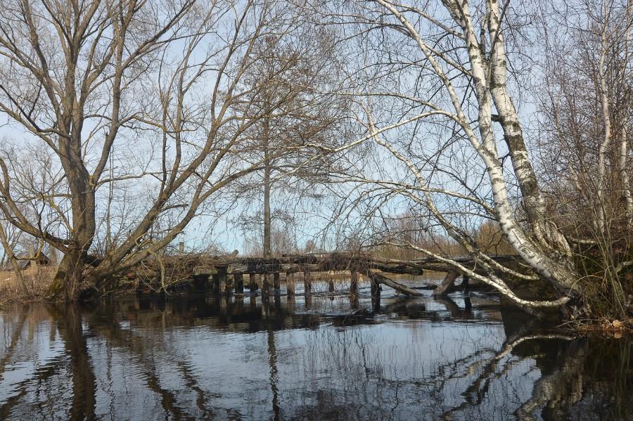 Мост у первой деревни на реке
