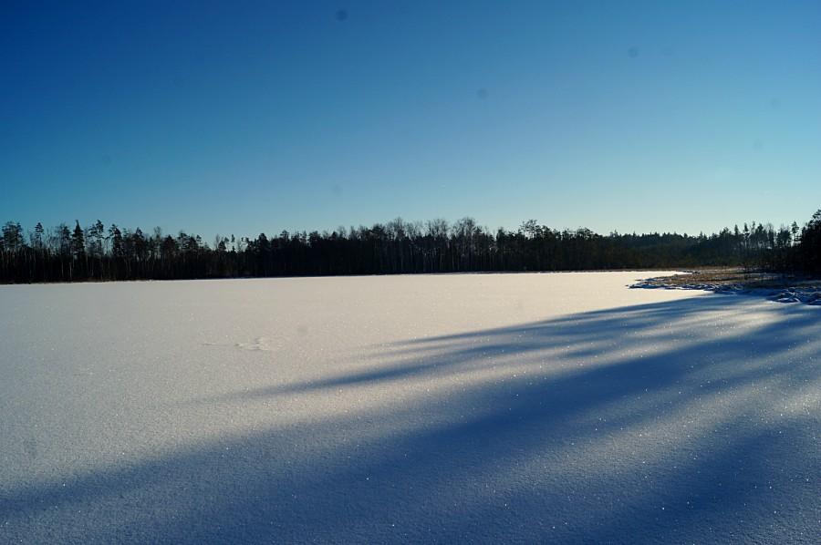 На льду оз. Молёва (северное)